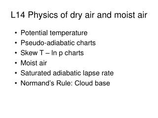 L14 Physics of dry air and moist air
