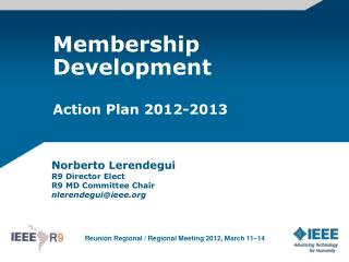 Membership Development Action Plan 2012-2013