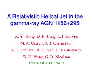 A Relativistic Helical Jet in the gamma-ray AGN 1156+295