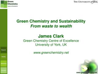 Green Chemistry and Sustainability From waste to wealth James Clark