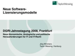 Neue Software-Lizensierungsmodelle