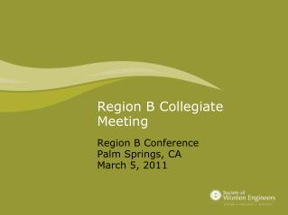 Region B Collegiate Meeting
