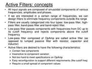 Active Filters: concepts