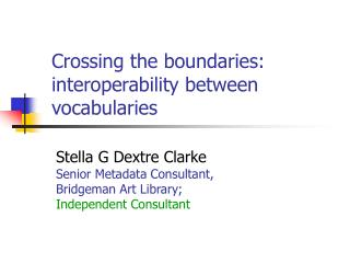 Crossing the boundaries: interoperability between vocabularies