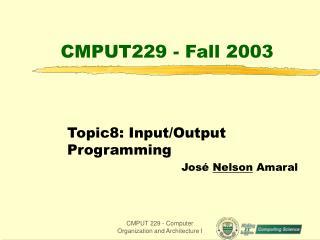 CMPUT229 - Fall 2003