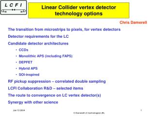 Linear Collider vertex detector technology options