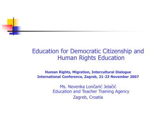 Education for Democratic Citizenship and Human Rights Education