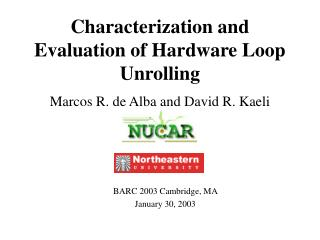Characterization and Evaluation of Hardware Loop Unrolling