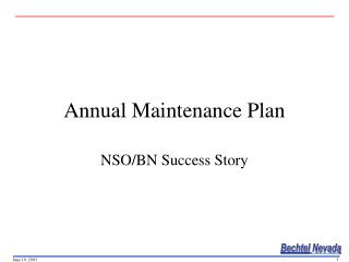 Annual Maintenance Plan