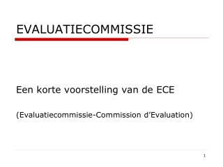 EVALUATIECOMMISSIE