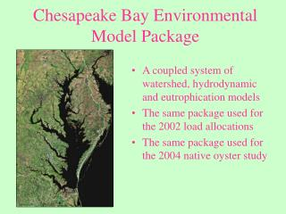 Chesapeake Bay Environmental Model Package
