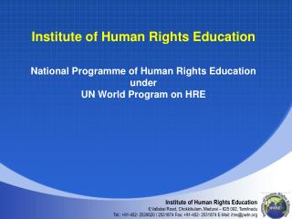 Institute of Human Rights Education