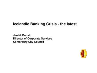 Icelandic Banking Crisis - the latest