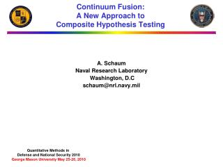 Continuum Fusion: A New Approach to  Composite Hypothesis Testing