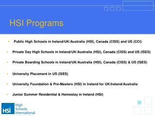 HSI Programs