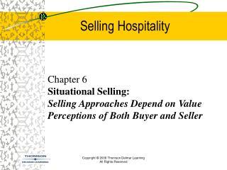 Selling Hospitality