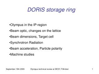 DORIS storage ring