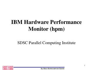 IBM Hardware Performance Monitor (hpm)