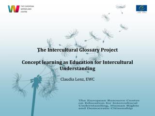 The Intercultural Glossary Project Concept learning as Education for Intercultural Understanding