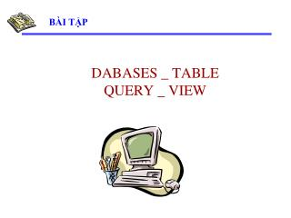 DABASES _ TABLE   QUERY _ VIEW
