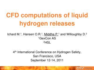 CFD computations of liquid hydrogen releases