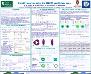 Stability analysis using the SIESTA equilibrium code