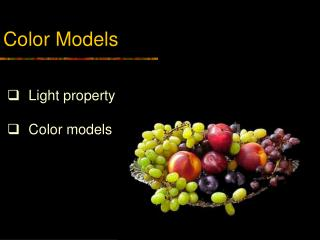 Color Models