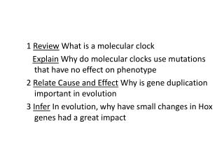 1  Review  What is a molecular clock