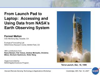 From Launch Pad to Laptop:  Accessing and Using Data from NASA's Earth Observing System