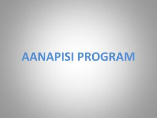 AANAPISI PROGRAM