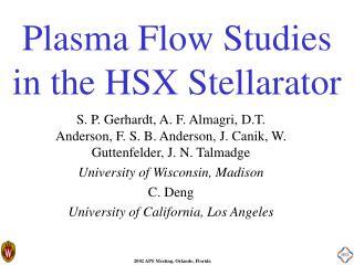 Plasma Flow Studies in the HSX Stellarator