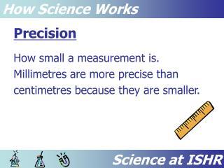 Science at ISHR