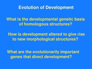 Evolution of Development