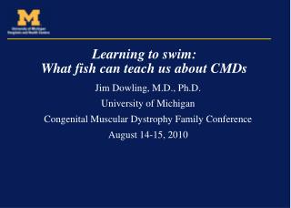 Learning to swim: What fish can teach us about CMDs