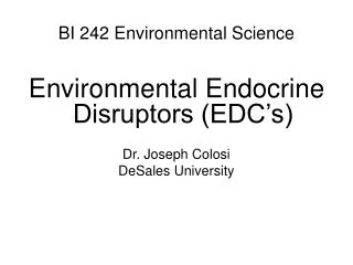 BI 242 Environmental Science