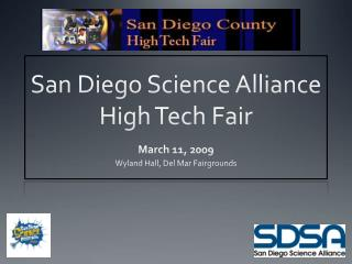San Diego Science Alliance  High Tech Fair