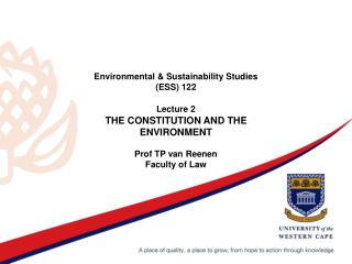 The Constitution of the RSA 1996