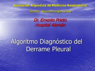 Algoritmo Diagnóstico del Derrame Pleural