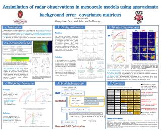Assimilation of radar observations in mesoscale models using approximate