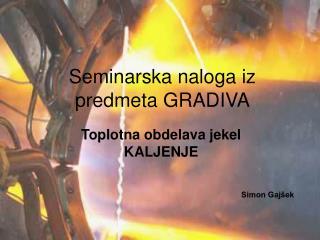 Seminarska naloga iz  predmeta GRADIVA