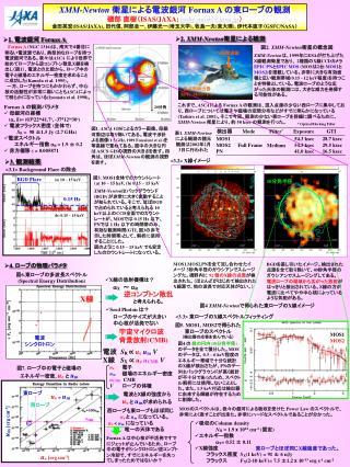 XMM-Newton 衛星による電波銀河  Fornax A  の東ローブの観測 磯部 直樹( ISAS/JAXA;  isobe.naoki@jaxa.jp )