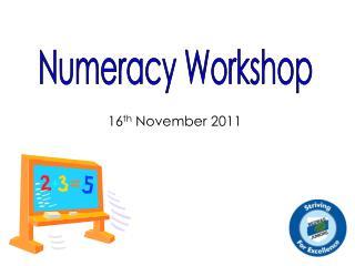 Numeracy Workshop