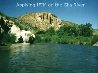 Applying IFIM on the Gila River