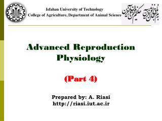 Advanced Reproduction Physiology (Part 4)