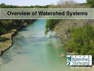 Overview of Watershed Systems