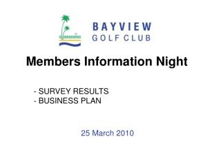 Members Information Night