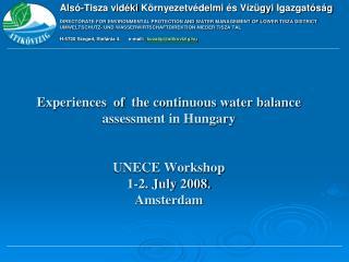 Alsó -Tisza  vidéki Környezetvédelmi és Vízügyi Igazgatóság