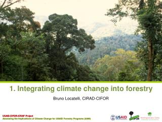 1. Integrating climate change into forestry