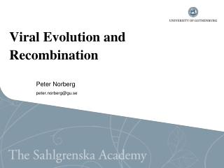 Viral Evolution and  Recombination