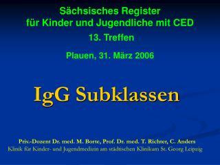 IgG Subklassen